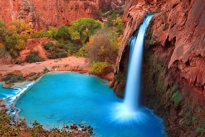 Most beautiful Falls in United States--Havasu Falls,Supai, Arizo